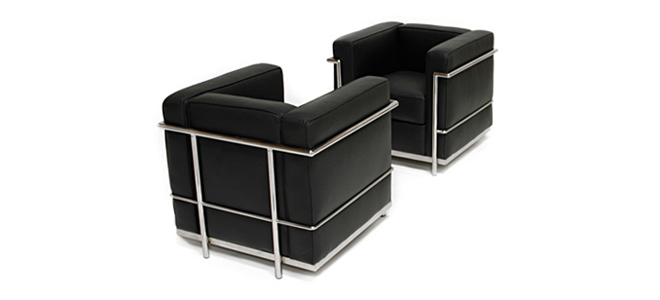 furniture chair lc2 le corbusier. Black Bedroom Furniture Sets. Home Design Ideas